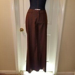 #287 Preowned Apostrophe Brown Striped Pants 4, 33